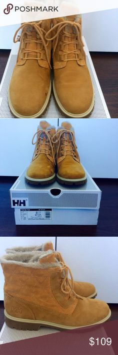 Helly Hansen 'Vega' waterproof leather boot Jelly Hansen 'Vega' waterproof leather boot in New Wheat. Worn once; in excellent condition! Helly Hansen Shoes Ankle Boots & Booties