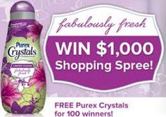 Free Purex Crystals Fabulously Fresh Giveaway