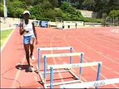 Hurdle Agility Drills & Tips for Great Hurdling : Lead Leg & Trail Leg Hurdle Agility Drills Running Race, Running Workouts, Running Tips, Track Workouts For Sprinters, Track Drill, Strength And Conditioning Workouts, Heptathlon, Long Jump, Cross Country Running