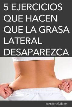 5 Ejercicios que hacen que la grasa lateral desaparezca #salud