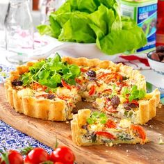 Quiches, Greek Recipes, Bruschetta, Lchf, Salmon Burgers, Baked Potato, Chutney, Recipies, Food And Drink