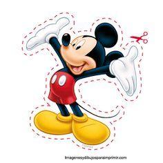 Mickey mouse de disney y más personajes disney para recortar