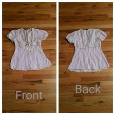 Free People top Mauve Free People top with beading detail and bow. Back zipper closure Free People Tops Blouses