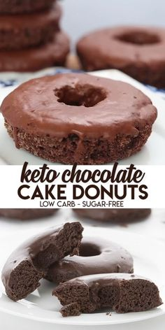 Keto Chocolate Cake Donuts You know what time it is, don't you? It's time to make the keto donuts! And you won't find tastier low carb and sugar-free donuts than these sweet little guys. This is the ultimate low carb donut recipe! Dig in and enjoy. Low Carb Donut, Low Carb Sweets, Low Carb Keto, Low Carb Recipes, Keto Fat, Healthy Recipes, Coconut Flour Recipes Keto, Keto Pancakes Coconut Flour, Cream Cheese Keto Recipes