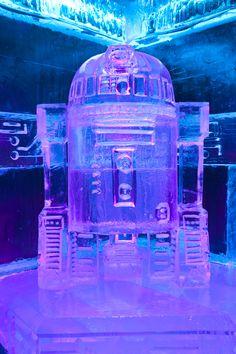Escultura de hielo R2D2. Icebarcelona. Temática: Star Wars (2016)