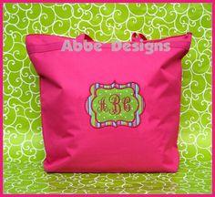 hot pink tote bag