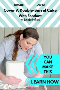 In this video, renowned cake artist Kaysie Lackey teaches how to cover a double barrel cake with fondant. The double barrel shape can be...