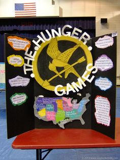 The Hunger Games reading fair project board Book Report Projects, Reading Projects, Book Projects, School Projects, Reading Fair, High School Reading, Hunger Games, Mississippi, Project Board