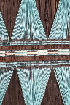 Vintage Tribal Blue Woven Wall Hanging Weaving by CaprockVintage
