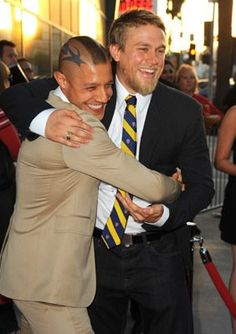 Charlie Hunnam and Theo Rossi at event of Sons of Anarchy