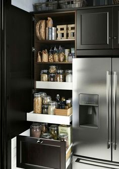 Pantry by the fridge