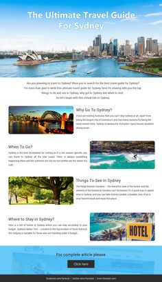 Complete Information which everyone should know about Sydney
