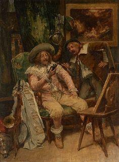 Alfred Jacomin Paris, 1842 - (?), vers 1913 Le marchand d'ob