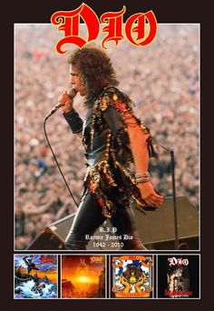 Ronnie James Dio Memorial Tribute Stand-Up Display Rock N Roll, Rock And Roll Bands, Rock Bands, Heavy Metal Art, Heavy Metal Bands, Radiohead, James Dio, Rock Poster, Music Pics