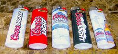 Lot Of 5 Bic Coors Light Full Size Lighters   $15.00 usd