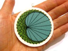 String Art Pendant Shrink Plastic by TheDopelerEffect on Etsy, $12.00