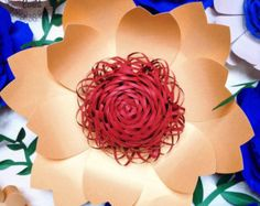 Paper Flower Backdrop Giant Paper Flower Wedding by APaperEvent