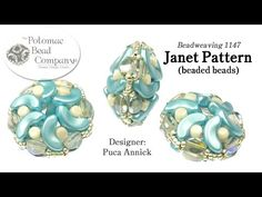 Janet Pattern Beaded Beads YouTube free jewelry-making tutorial, with all supplies from Potomac Bead Company (www.potomacbeads.com