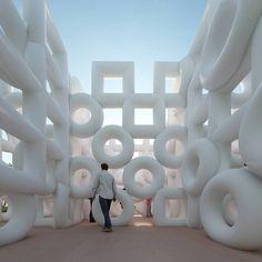 Portico Quartet - Art in the Age of Automation Restaurant Mexicano, Art Public, Instalation Art, Ephemeral Art, Abstract Geometric Art, Interactive Installation, Freundlich, Outdoor Art, Land Art