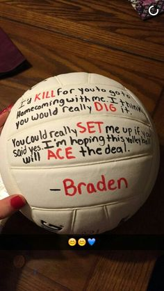 45 Homecoming Proposal Ideas Volleyball And Football Volleyball Room, Volleyball Jerseys, Volleyball Quotes, Volleyball Pictures, Volleyball Players, Volleyball Gifts, Cute Prom Proposals, Homecoming Proposal, Homecoming Ideas