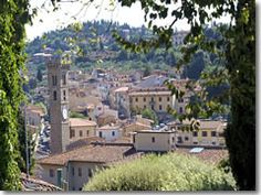 The town and cathedral tower of Fiesole—just a short bus ride from Florence