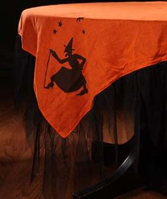 Halloween silhouette tablecloth.