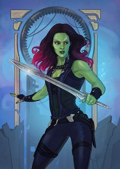 Guardians of the Galaxy | Gamora by Matt Haworth