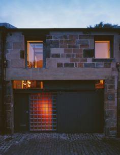 Façade of Mews at Dusk - Photograph by Allan Forbes Edinburgh, Facade, Terrace, Architecture, Dusk, Outdoor Decor, Scotland, Stairs, Photograph