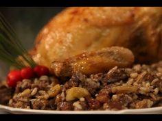 Χριστουγεννιάτικο γεμιστό κοτόπουλο! - YouTube Sweets Recipes, Meat Recipes, Baking Recipes, Veggie Tray, Greek Recipes, Cooking Time, Nutella, Food And Drink, Veggies