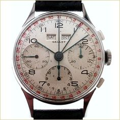 Gallet Chronograph Watch - MultiChron Calendar Chronograph