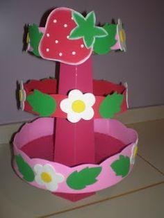 Andréia Lopes artes em eva.: Decoração de aniversário da Moranguinho