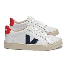 82b0becdf8688 Baskets Cuir Lacets Esplar White Veja Chaussures Adolescent