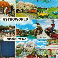 Astroworld Six Flags Houston, Houston Tx, Astroworld Houston, New England States, Loving Texas, History Timeline, Texas History, Texas Usa, Wish You Are Here