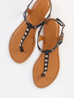 669ae7d4c6f Online shopping for Studded Thong Sandals BLACK from a great selection of  women s fashion clothing  amp