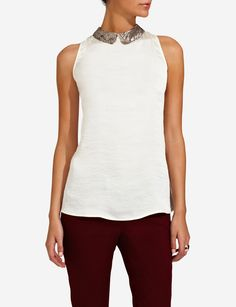 Jacquard Peter Pan Tank | Women's Tops | THE LIMITED