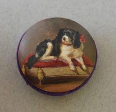 Antique Pin Cushion Recumbent Spaniel Dog