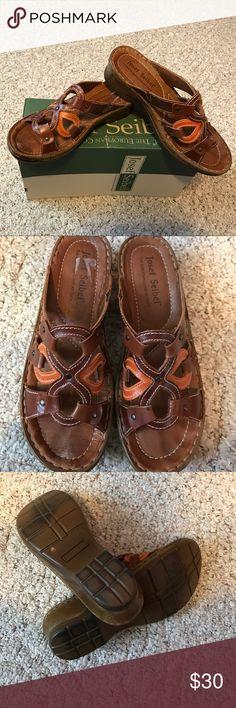 Josef Seibel slip on leather sandals Ladies size 9 Josef Seibel brand slider style sandals leather upper- excellent condition Josef Seibel Shoes Sandals