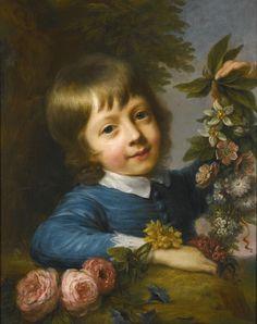 Nathaniel Hone R.A. (1718-1784) — Master Muspratt Wlliams Composing a Garland