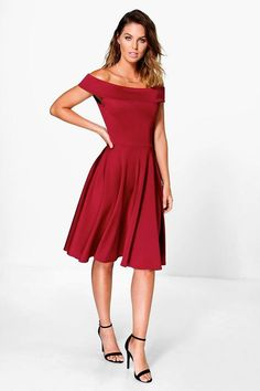 Molly Off The Shoulder Midi Dress