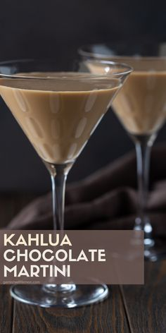 Why choose between dessert and an after-dinner drink when you can have both? This Kahlúa Chocolate Martini is a decadent spin on a traditional chocolate martini and will definitely be a party favorite. Party Drinks, Cocktail Drinks, Fun Drinks, Yummy Drinks, Cocktails, Kahlua Drinks, Mixed Drinks, Beverages, Party Desserts