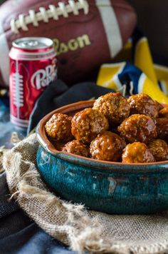 dr. pepper meatballs in the slow cooker/ crockpot. Looks easy and delicious for football season!
