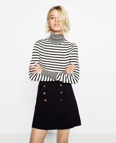 Image 2 of MULTI-STRIPE POLO NECK SWEATER from Zara