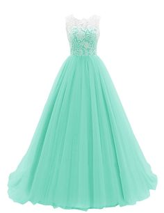 Dresstells® Women's Long Tulle Prom Dress Dance Gown with Lace Black Size 2