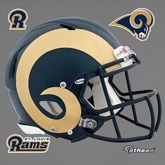 Rams Helmet Fathead Official Nfl Football, St Louis Rams, Pottery Barn Teen, Pbteen, Football Helmets, Hockey, Decals, Graphics, Bedroom