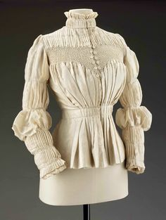 Pleated and Smocked Blouse, ca. 1890s Liberty & Co. via MFA