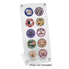 10 Poker Chip Museum Quality Acrylic Display Stand - Casino Supply