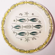 Rare Stavangerflint Mid Century Modern Mod Fish Plate on Etsy by EdibleComplex. $20.00, via Etsy.