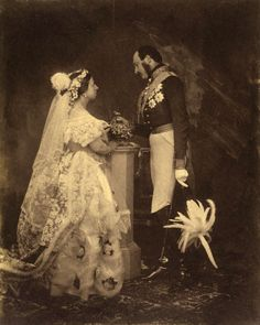 H.M. Queen Victoria of Great Britain and Ireland, Empress of India, née Princess Alexandrina Victoria of Kent (1819-1901) and H.R.H. Prince Consort Albert of Great Britain, née Prince of Saxony-Coburg-Saalfeld  (1819-1861) Wedding (1839)