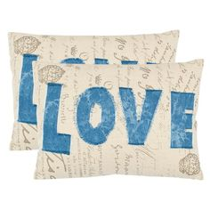 Adorable~ Love Pillow - Set of 2 from the Safavieh event at Joss & Main!