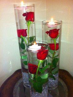 Agape Valentine  centerpieces